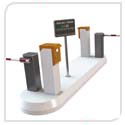 rising arm barriers, ticket dispensers, reader machines